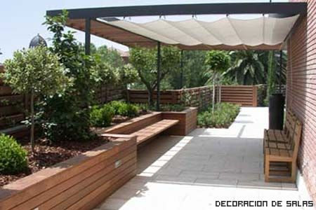 Techo de madera son los mas utilizados en las terrazas del for Techos y toldos para terrazas