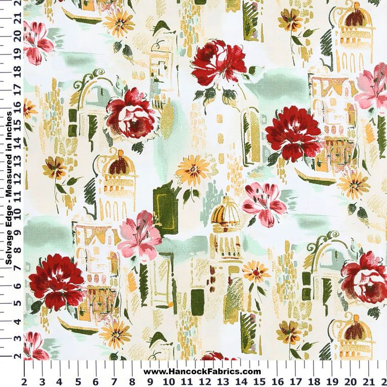 Travel Europe Venetian Cotton Duck Fabric And More Of Our 45 Inch Home Decor Fl Huge Selection Thread