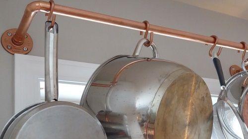 Diy Hanging A Kitchen Pot Rack The Modern Mom House