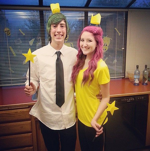 The fairly odd couple. What you need to do For the girls dye or spray your hair purple and wear a yellow t-shirt. For the guys dye or spray your hair ...  sc 1 st  Pinterest & 57 Cheap and Original DIY Couples Halloween Costumes   Cosmos Diy ...
