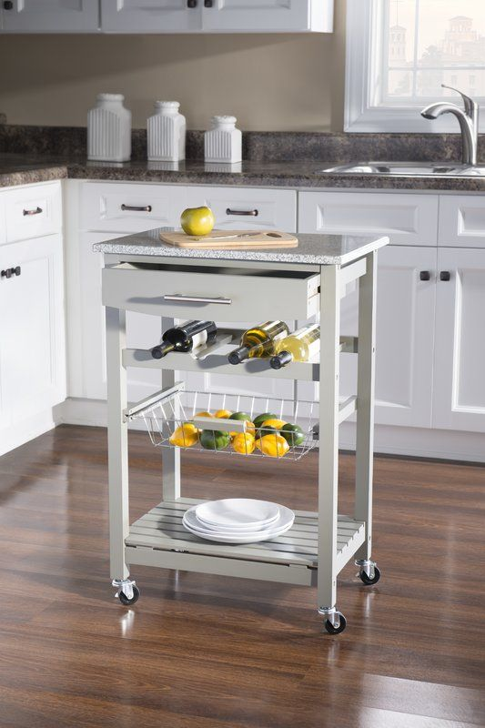 Macy Kitchen Cart With Granite Top (With Images)