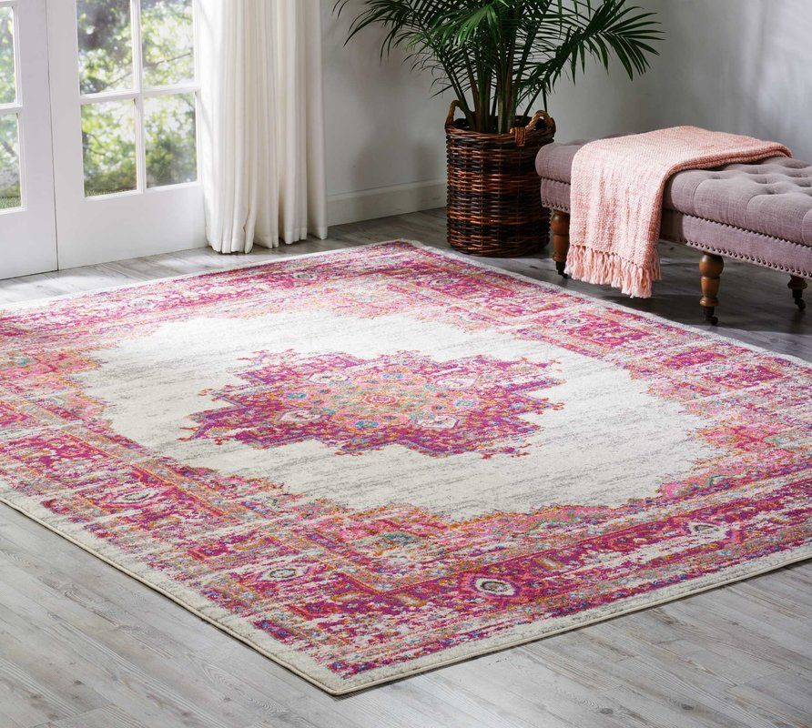 Dorset Ivory/Fuchsia Indoor Area Rug | Game rooms, Room and Room ideas