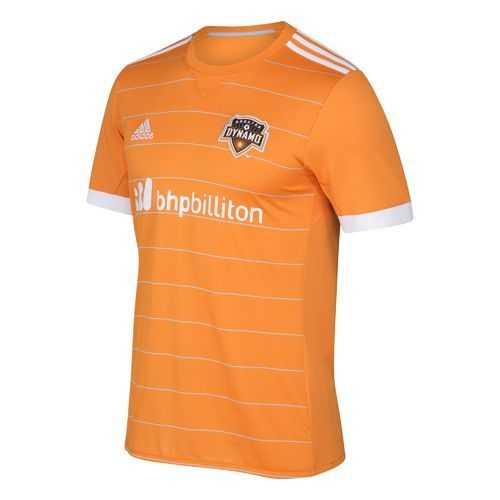 Adidas Men's Houston Dynamo Short Sleeve Replica Jersey (Orange, Size Small)  - Pro