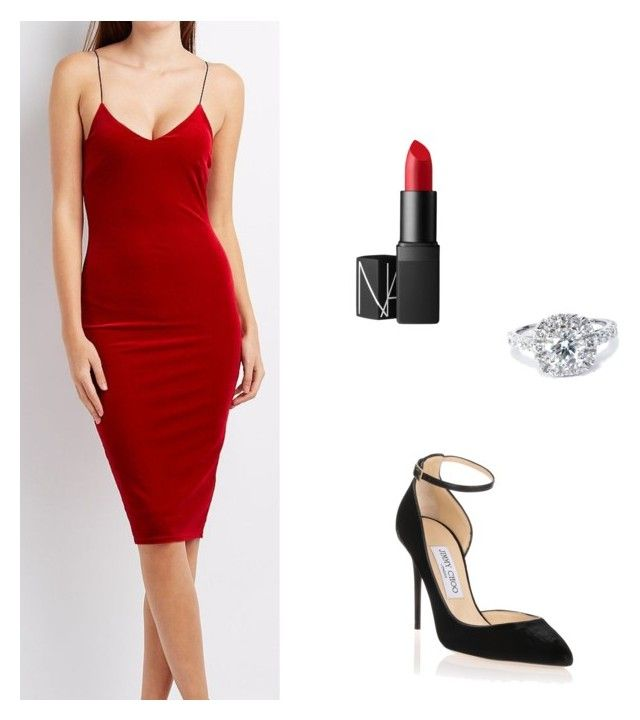 Anastasia Steele S Red Dress By Willinat Liked On Polyvore Featuring Charlotte Russe Jimmy Choo Nars Cosmetics And Bliss Diamond