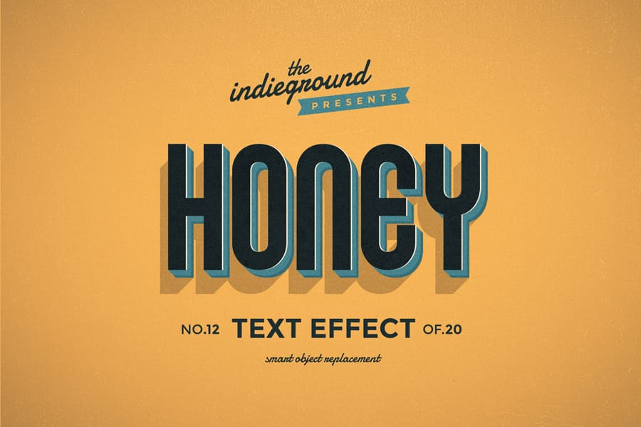 Retro Vintage Text Effect N 12 Indieground Design Retro Text Vintage Text Text Effects