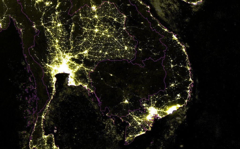 Nighttime Lights Mainland Southeast Asia Southeast Asia Night