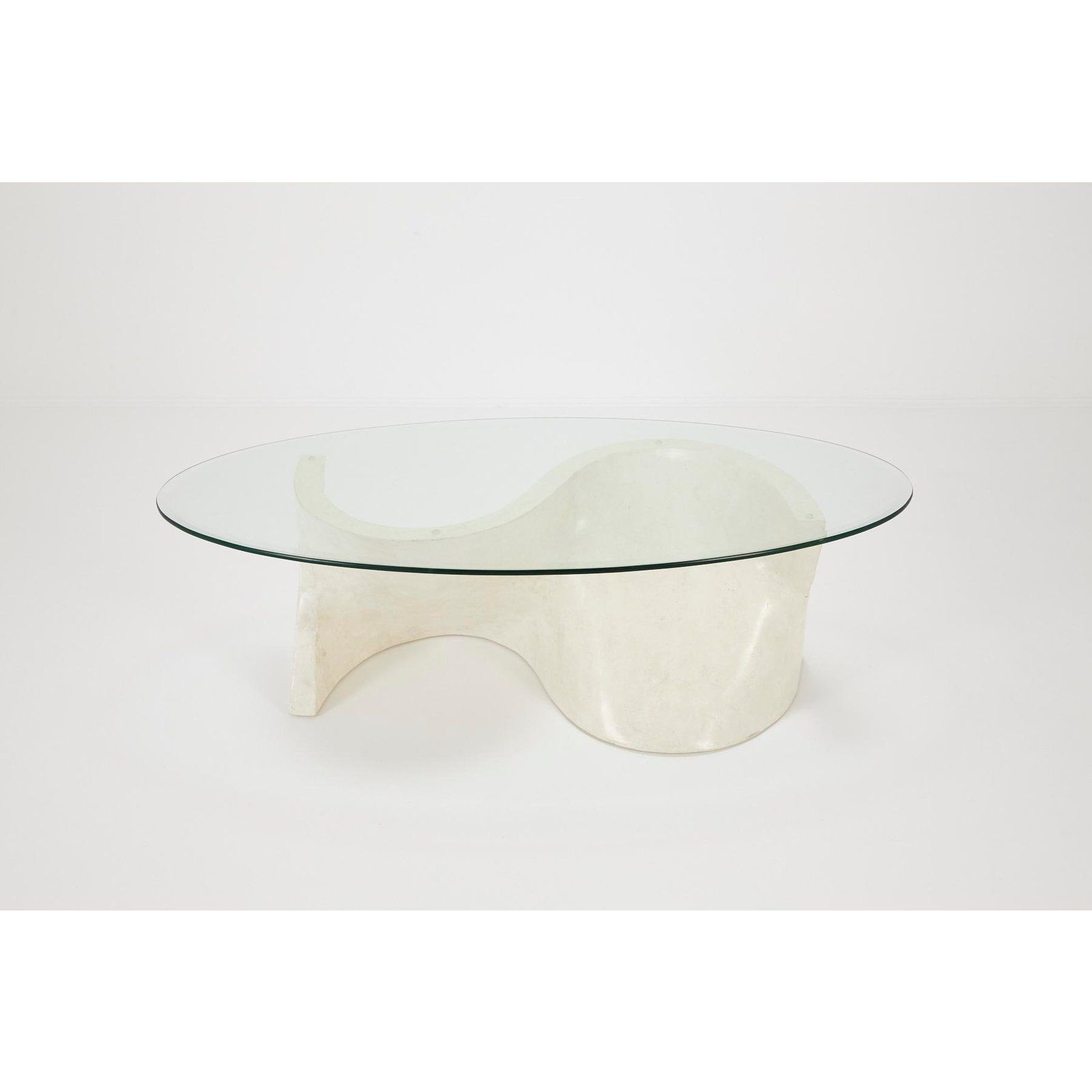 Tim Clear Glass Coffee Table With High Gloss White Base Modern Glass Coffee Table Coffee Table Design Modern Coffee Table [ 909 x 1000 Pixel ]