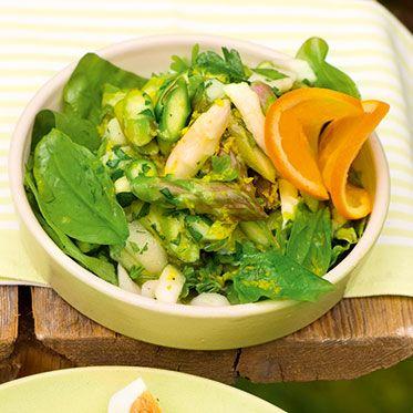 Spargelsalat mit Orangensauce http://chateau-et-chocolat.de/