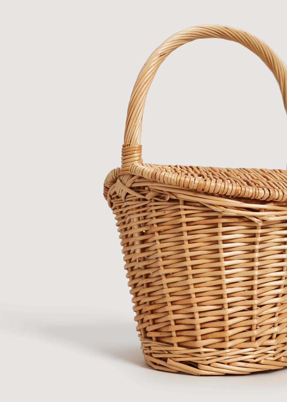 mini picnic basket bag in natural - Natural Mango BZqen1