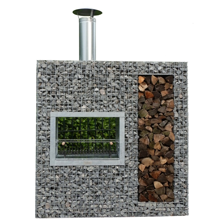 steinkorb garten-kamin grill xl | feuer - im garten | pinterest