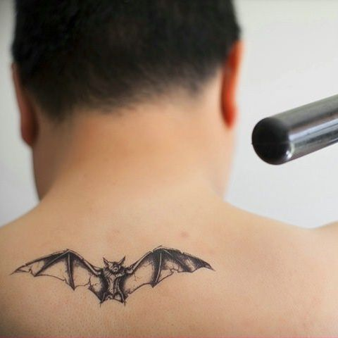 Bat Tattoo Finger