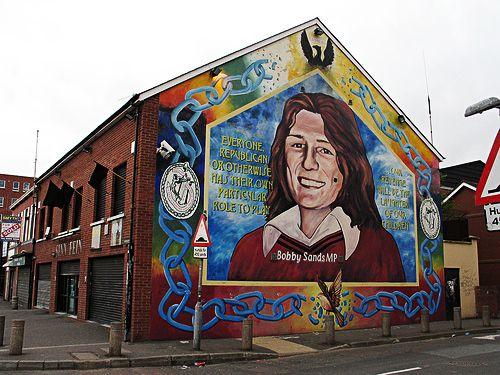Wall mural memorial to hunger striker bobby sands for Bobby sands mural belfast