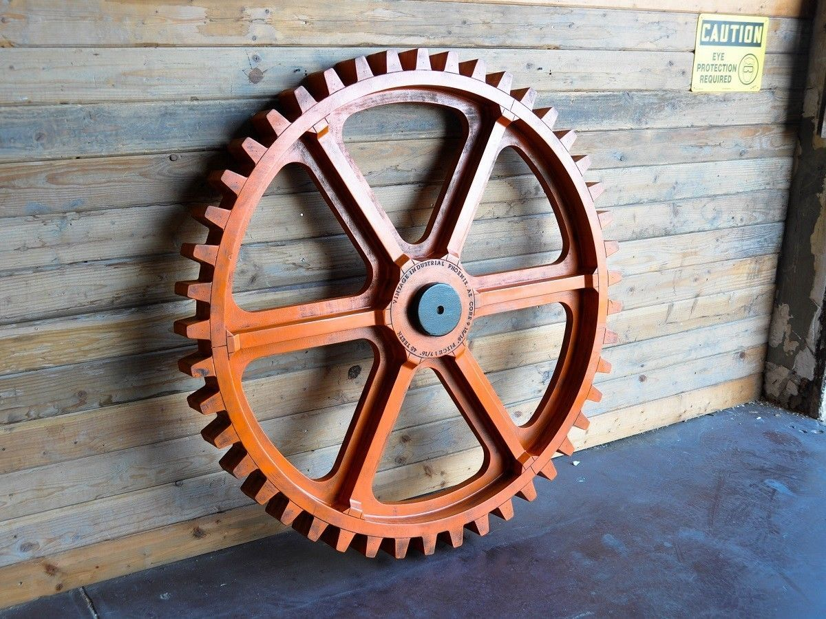 Pin By Owen Smith Illustration On Apartment Wooden Gears Vintage Industrial Vintage Industrial Furniture
