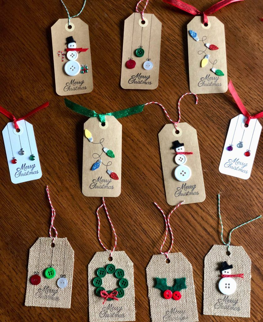 DIY Christmas Tags are fun and easy to make and the possibilities are endless. See how to make them at www.diyvibes.net #gifttags #diygifttags #Christmasgifttags #homemadegifttags #diychristmasgifts