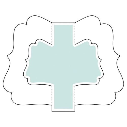 Flourish Double Wing Easel Template Follow Link To See Its Use Dresses Up The Back Of A Stand Up Picture Frame Card Patterns Card Layout Paper Crafts