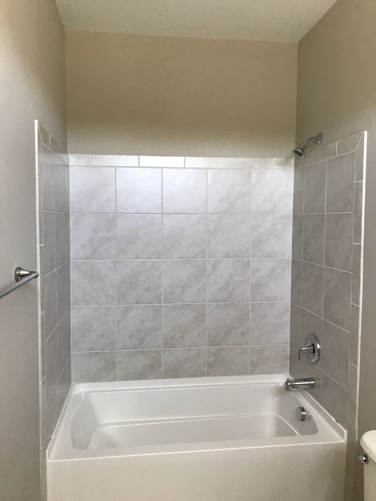 Standard Height Tile On 9 Walls With Images Bathroom Wall