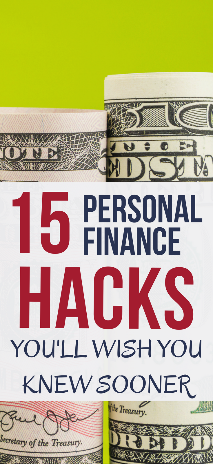 15 Personal Finance Hacks You'll Wish You Knew Sooner CHECK OUT these 15 money management hacks. If you like small actions that lead to big results, you'll love this. personal finance hacks | money management tips | life hacks | money hacks