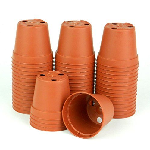 2 Inch Plastic Pot Terra Cotta 50 Pack Azalea Cheaper Than Clay Pots And Can Be Painted Just The Same Plastic Nursery Pots Plastic Pots Decorative Pots