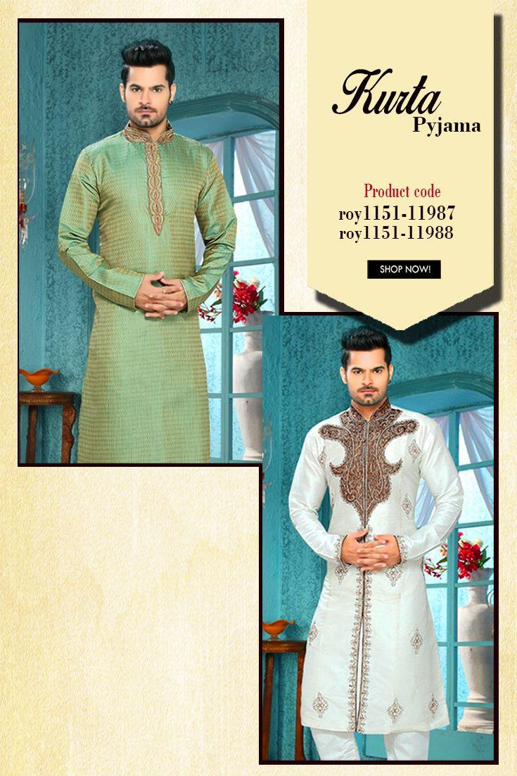 Designer Men #KurtaPyjama The ravishing #designerKurtapyjama is ...