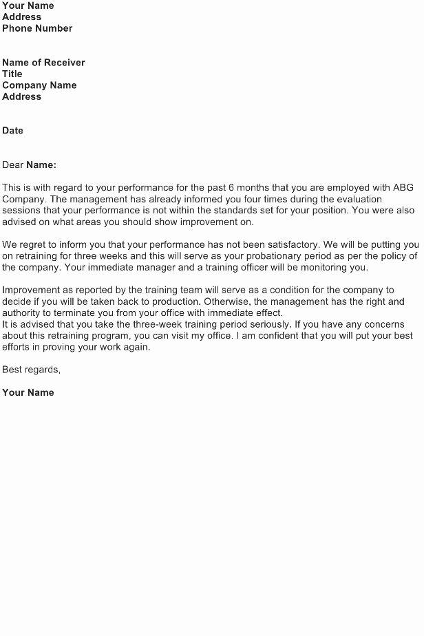 Poor Performance Review Samples Fresh Reprimand Letter Sample