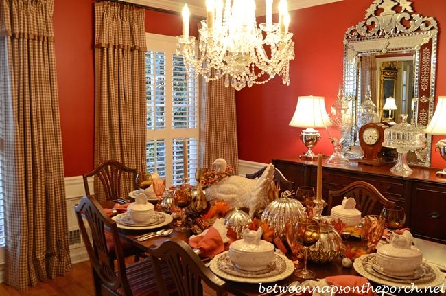 Check Draperies Curtains With French Pleats For A Traditional Dining Room