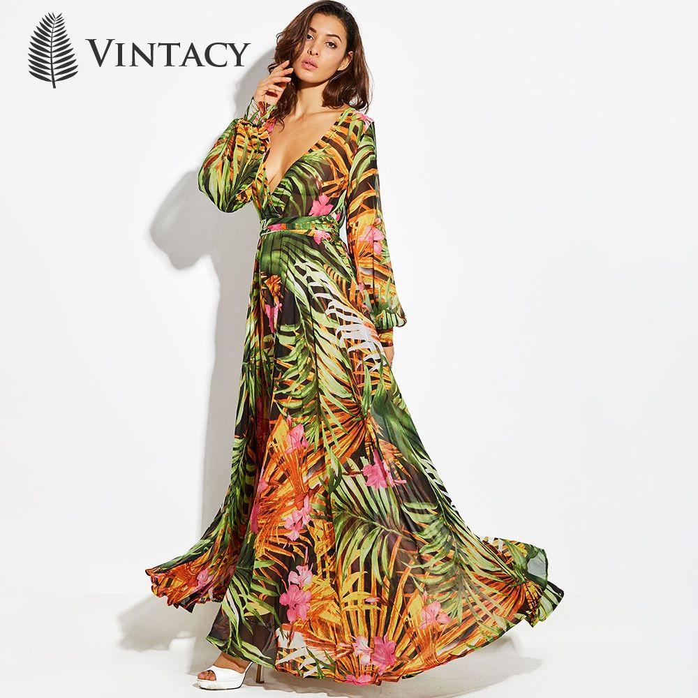 Yonses Fashion Women S Fashion Store Vintage Maxi Dress Boho Maxi Dress Maxi Dress [ 1000 x 1000 Pixel ]