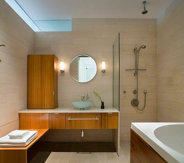 cuartos de bao con ducha abierta