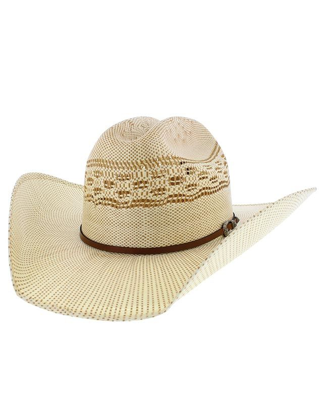 dbeb17fb665 Justin SHOOTER Tan Straw Hat with Cattleman Crease Crown - Hats - Men s