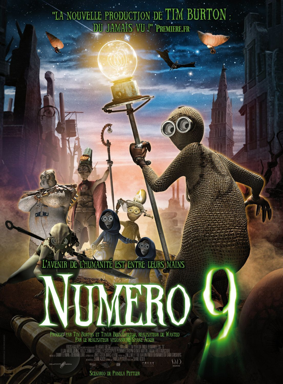 Tb200 9 French Movie Poster 2009 Tim Burton Production Movieposter Films Complets Numero 9 Tim Burton