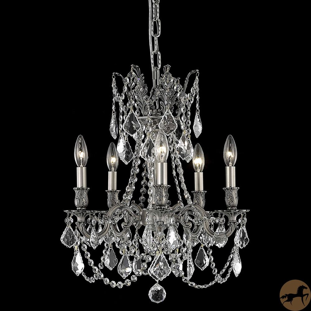Christopher Knight Home Meilen 5-light Royal Cut Crystal and Pewter Chandelier - Overstock™ Shopping - Great Deals on Christopher Knight Home Chandeliers & Pendants