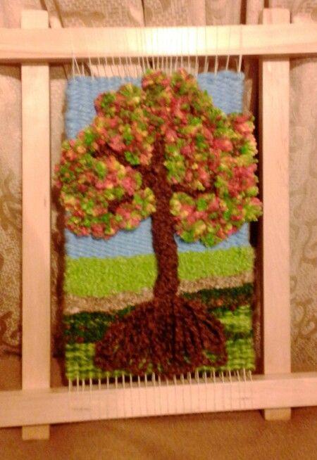 Resultado de imagen para telares decorativos de arboles - Arboles decorativos ...