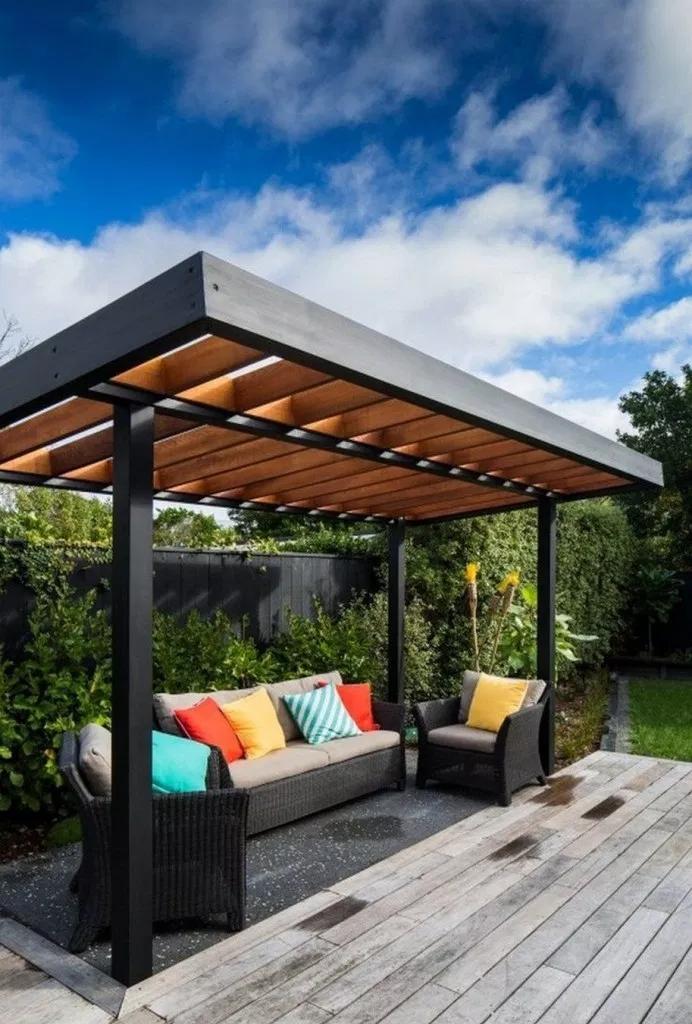 ✔75 wonderful pergola patio design ideas 57