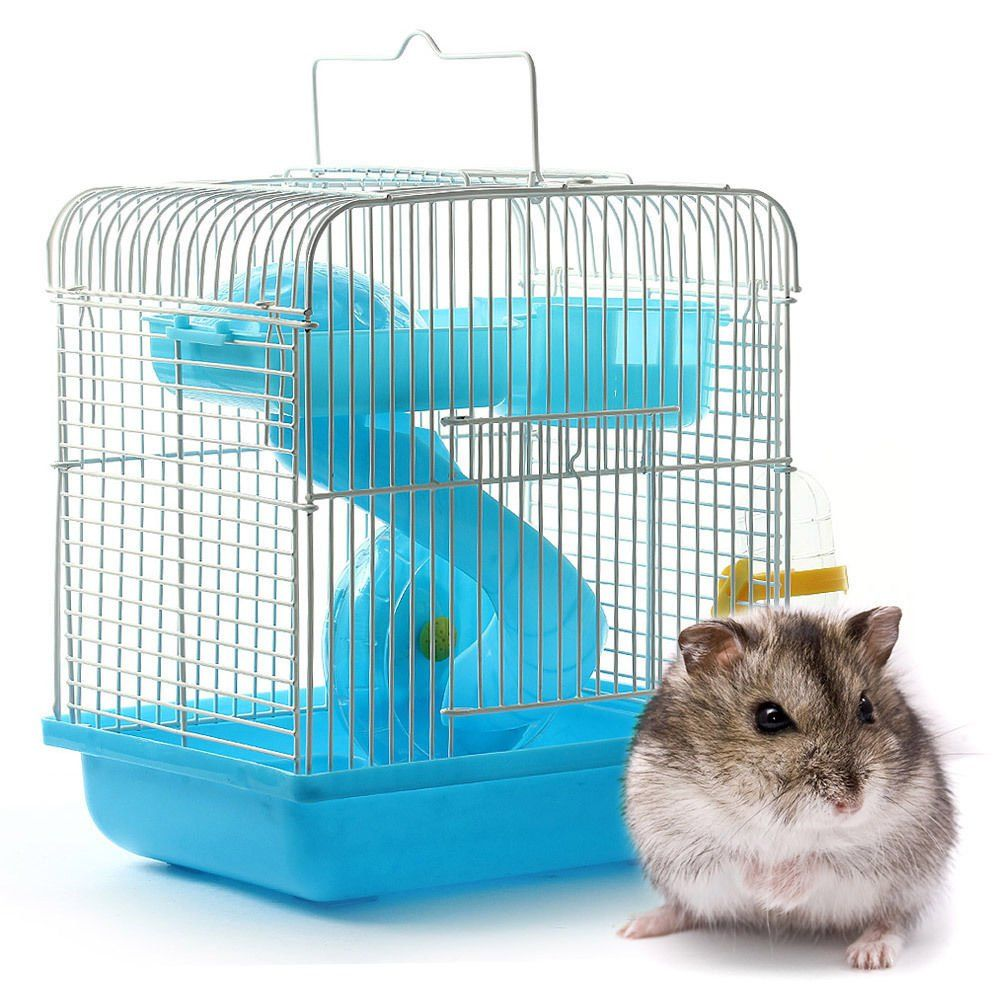 Hamster Pet House Portable House Cage Set For Small Animal Hamsters Gerbil Chinchillas Blue Examine Out This Great Prod Hamster Small Pets Small Animal Cage