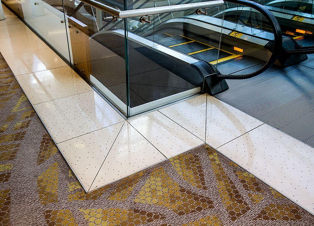 Sensitile Terrazzo Interactive Concrete Floor Tiles At Aria Convention Center In Las Vegas Concrete Tile Floor Terrazzo Flooring Terrazzo