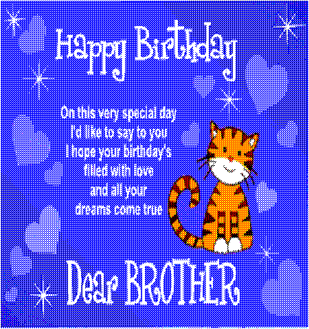 Free Animated Cards For Facebook Happy Birthday Dear Brother