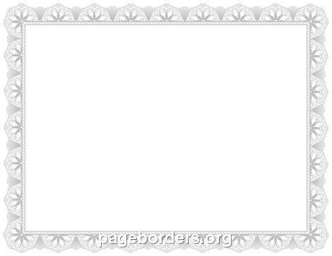 Silver Certificate Border  Certificate Borders Free Download