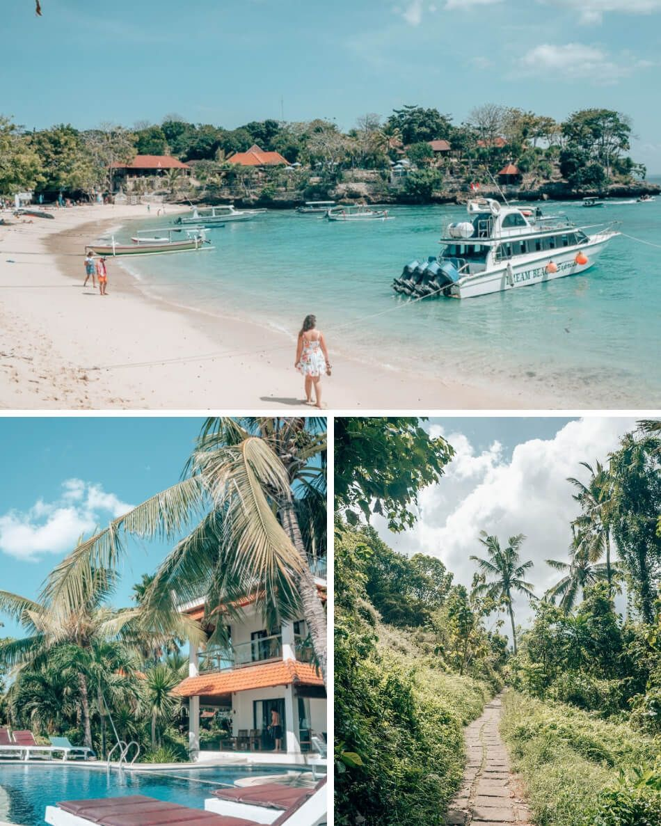 Sea Breeze Ceningan restaurant is on tiny Nusa Ceningan, an island off the coast of Bali. Spend a few days exploring the Nusa Islands on your trip to Bali! It's well worth including in your Bali itinerary.