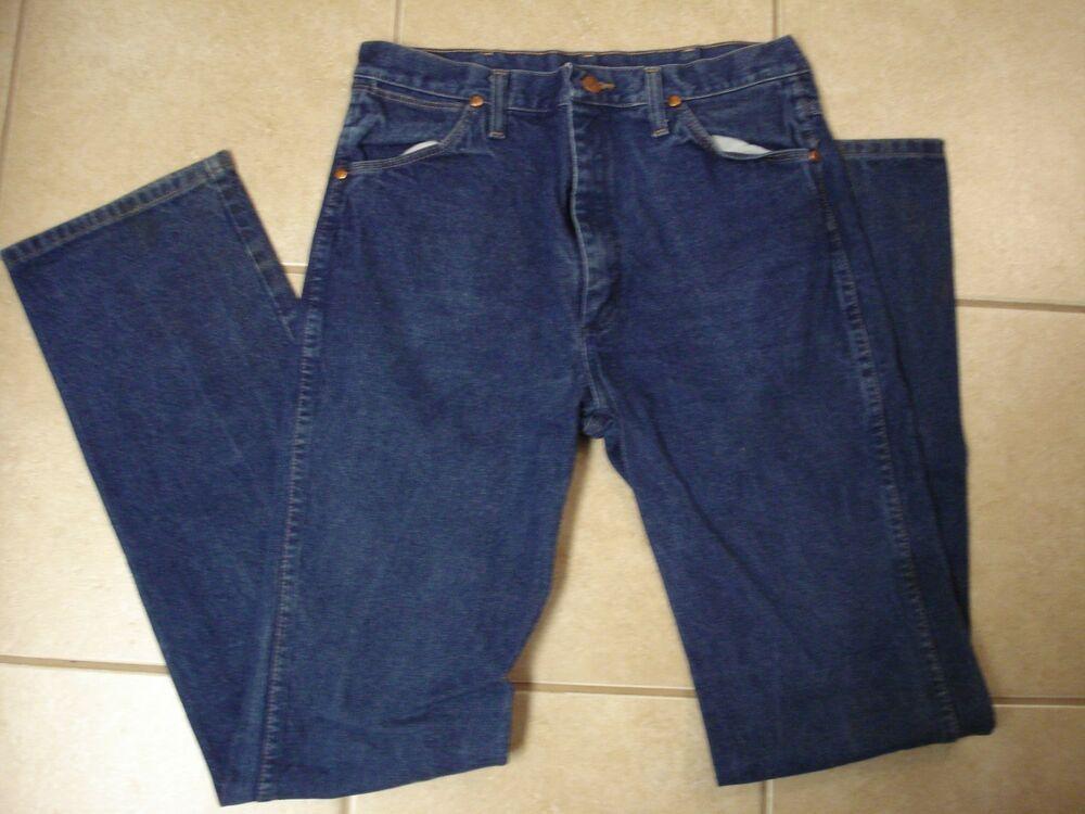 Vtg wrangler jeans mens actual size 32 x 36 slim fit
