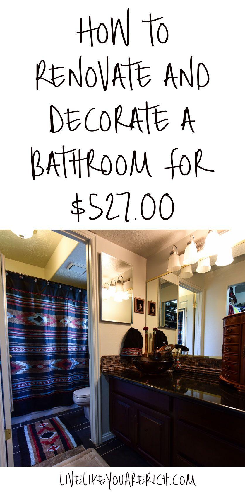 How To Save Money Renovating A Bathroom Budget Bathroom Remodel Renovation Home Remodeling