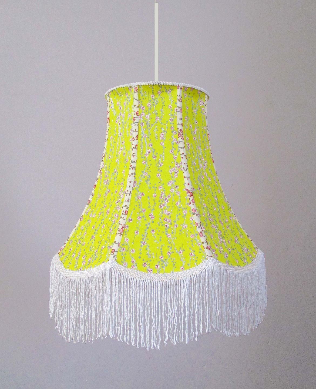 abat jour pour suspension boh me forme pagode en papier japonais frange luminaires par. Black Bedroom Furniture Sets. Home Design Ideas