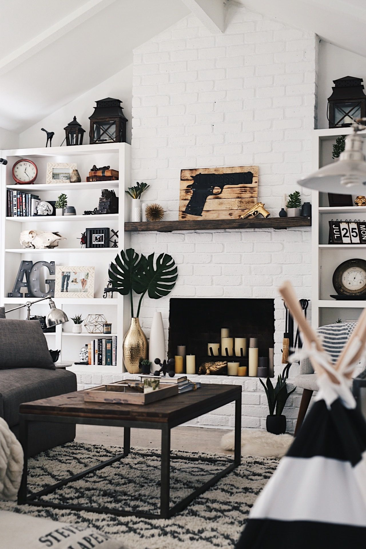 how to easily affordably paint a brick fireplace white dtk rh pinterest co uk