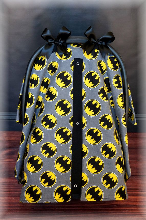 Batman Flannel Carseat Canopy The Canopy Shoppe Baby Car Seat