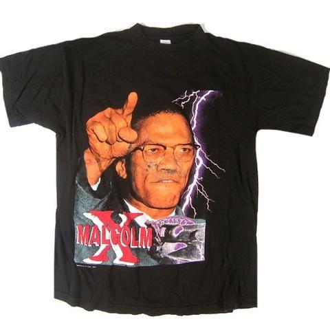Vintage Malcolm X 1995 T Shirt Vintage Rap Tees Shirts T Shirt