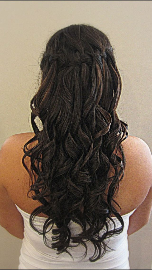 Pin By Taylor Tranghese On Waterfall Braid Braids With Curls Prom Hair Hair