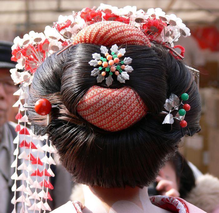 Geisha Hair By My Sweet A7x On Deviantart Cheveux Geisha Coiffures Japonaises Geisha Japonaise