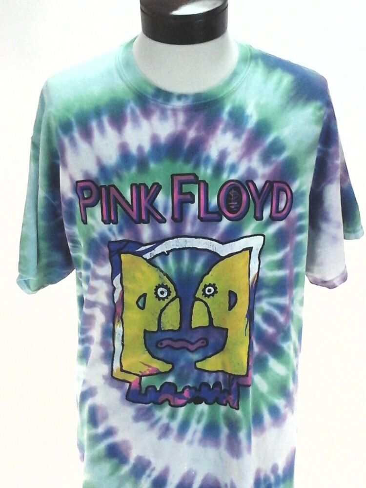 Details About Pink Floyd 2019 Reproduction Concert T Shirt Division Bell Tour 94 Tie Dye L Concert Shirts How To Roll Sleeves Concert Tshirts