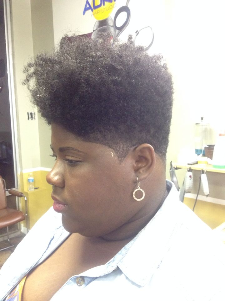 faded tapered cut natural hair