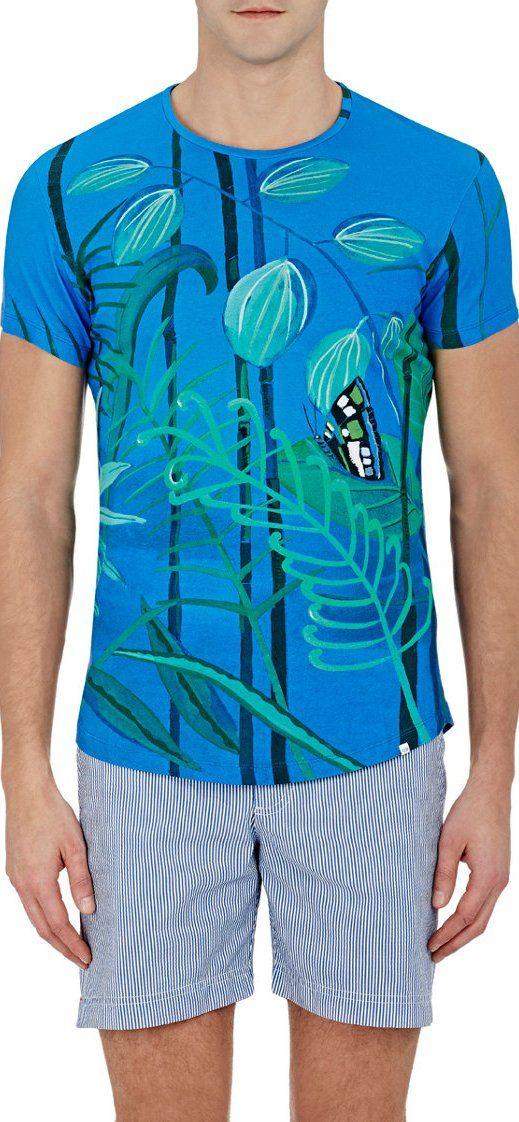 ORLEBAR BROWN Leaf-Print T-Shirt