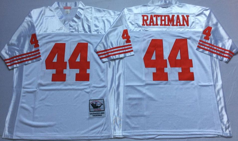 more photos c3211 a0dfc 49ers 44 Tom Rathman White Throwback Jersey | nfl throwback ...