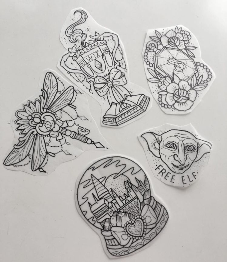 Tattoo sketches from Harry Potter